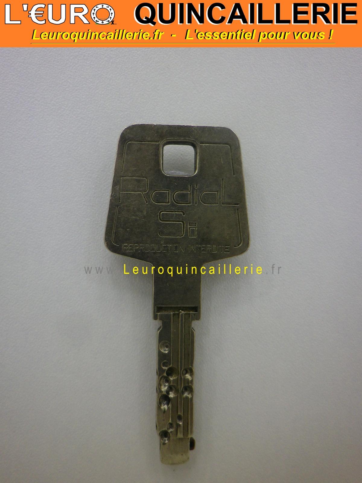 Clé brevetée Vachette Radial Si sur numéro