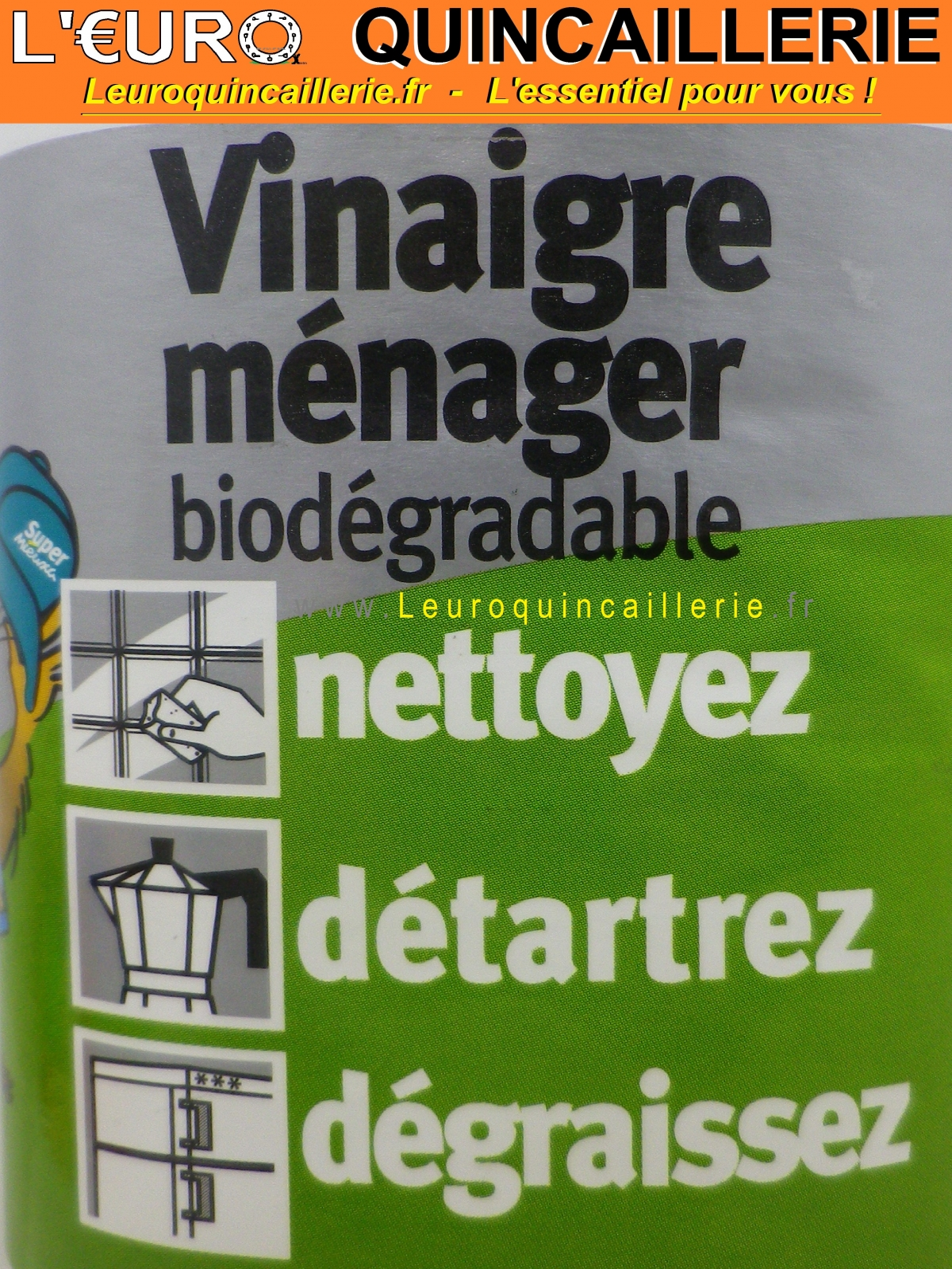 Vinaigre Ménager biodégradable