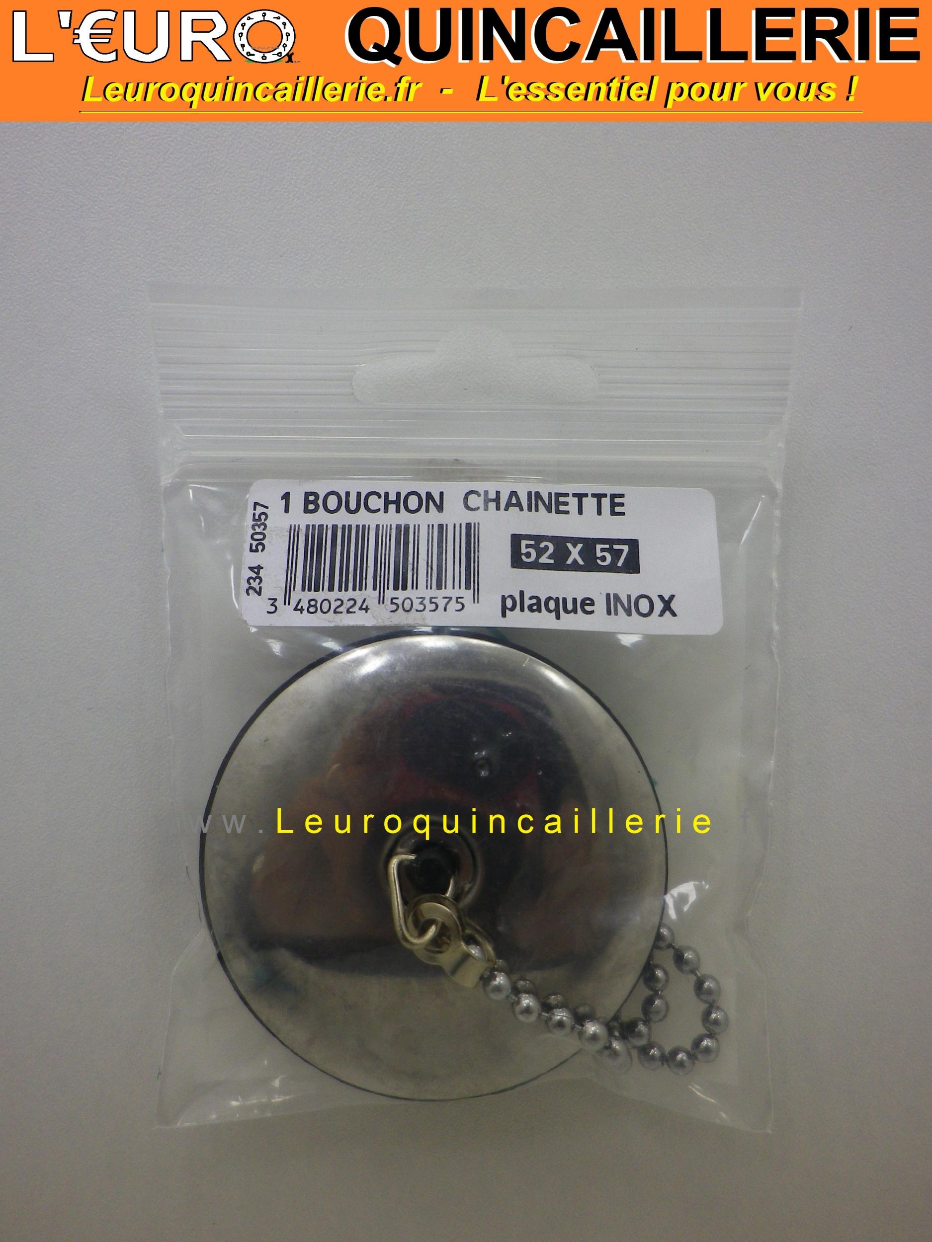 Bouchon 52 à 57 mm avec chaînette