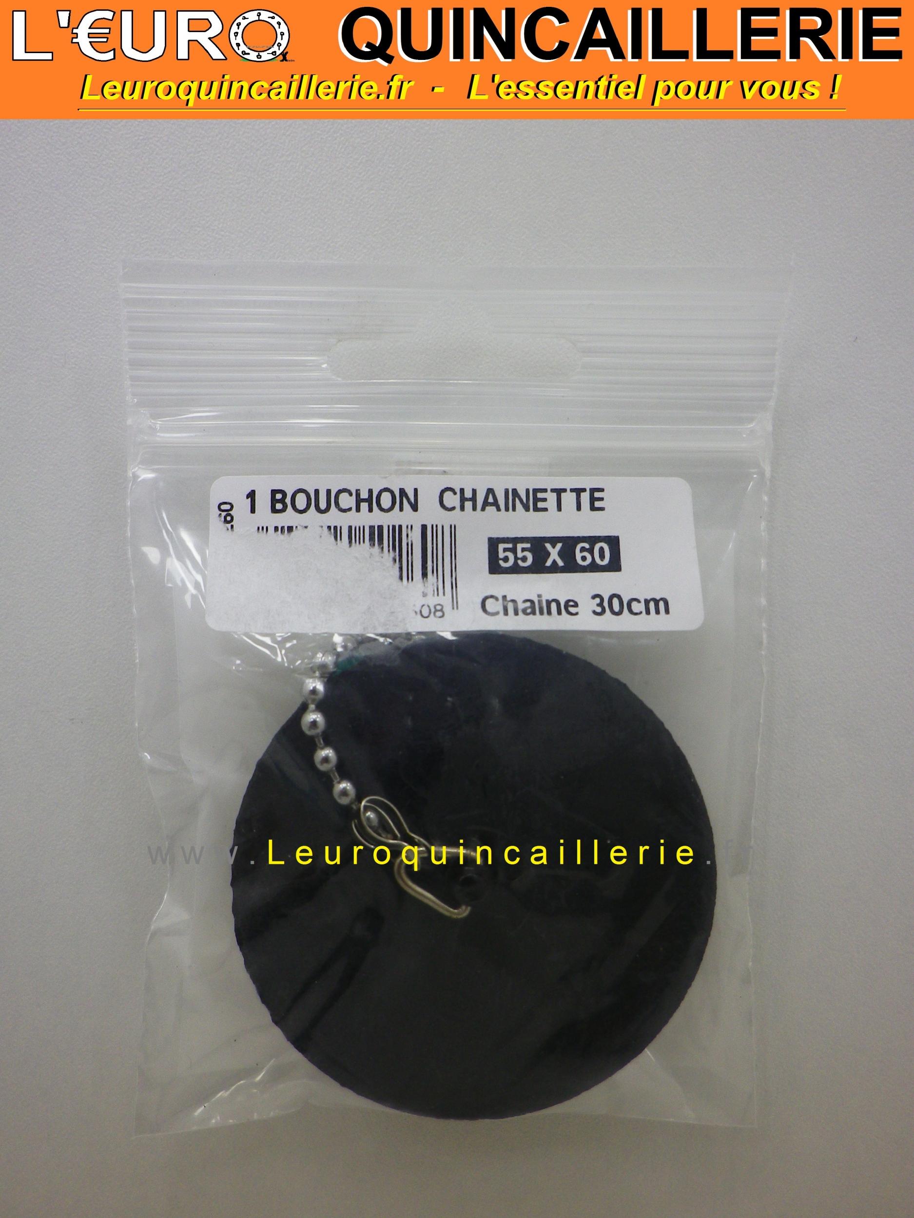Bouchon 55 à 60 mm avec chaînette