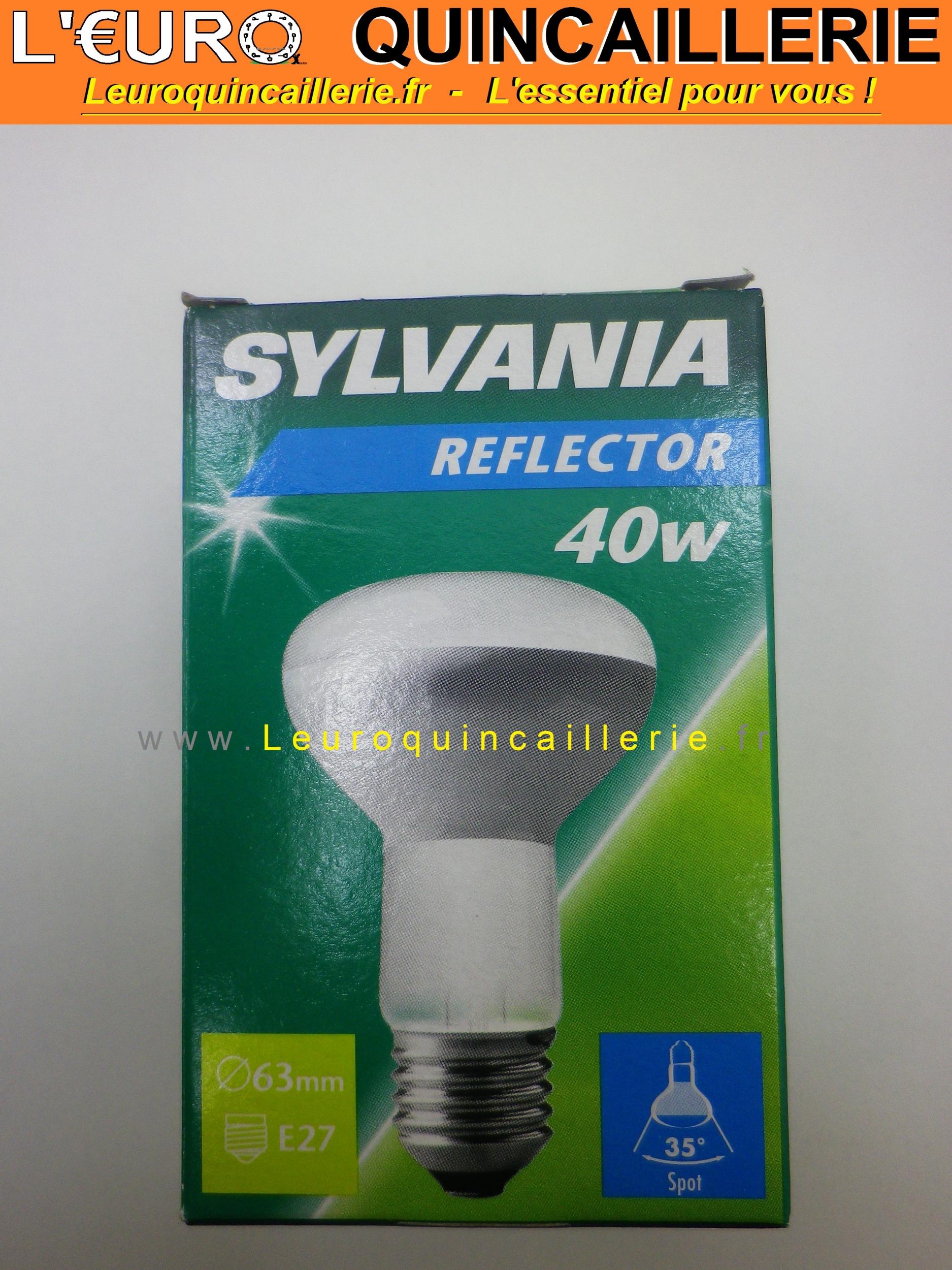 Ampoule spot  E27 R63 28W Sylvania halogène