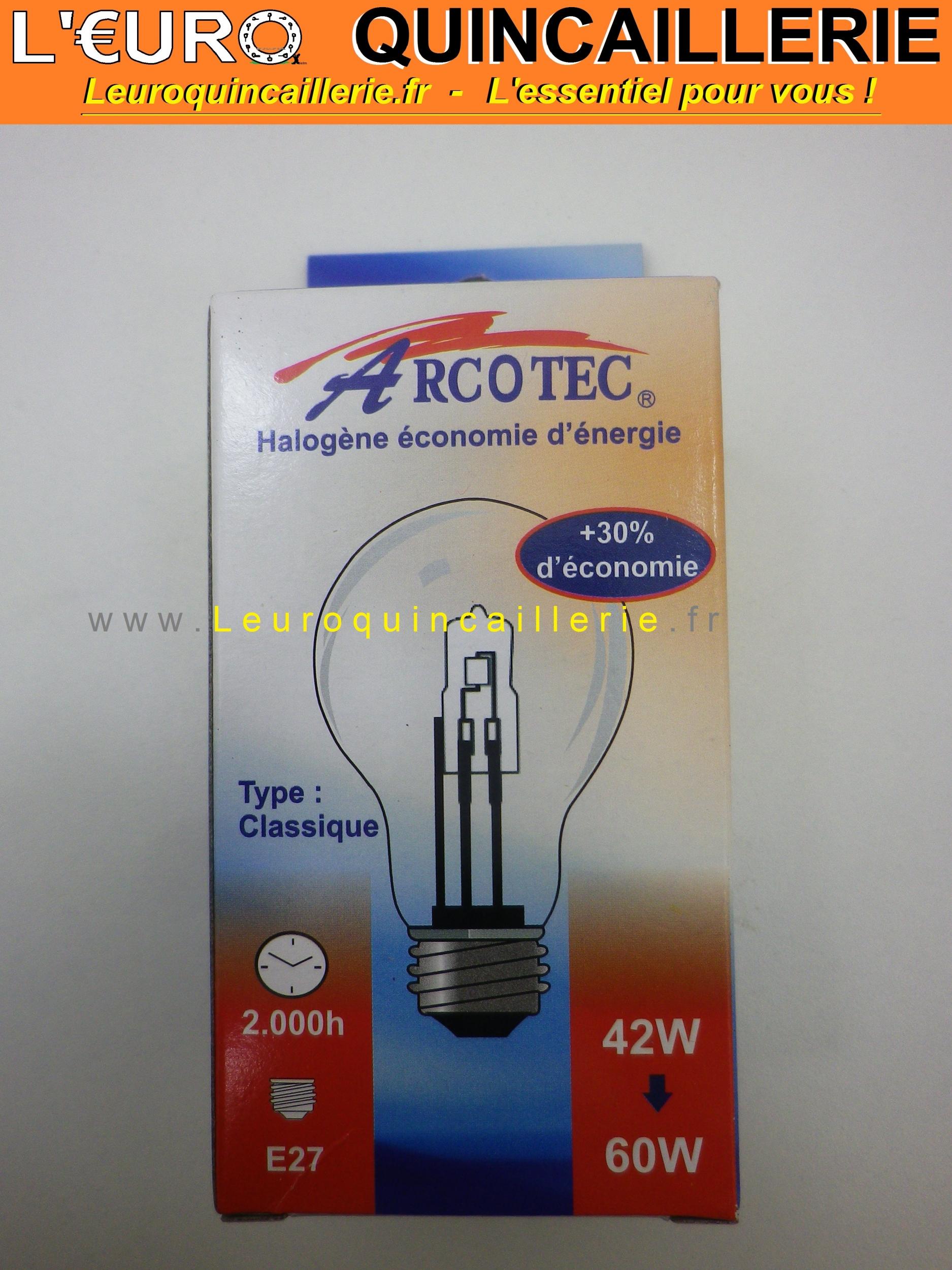 Ampoule classique halogène E27 42w=60w