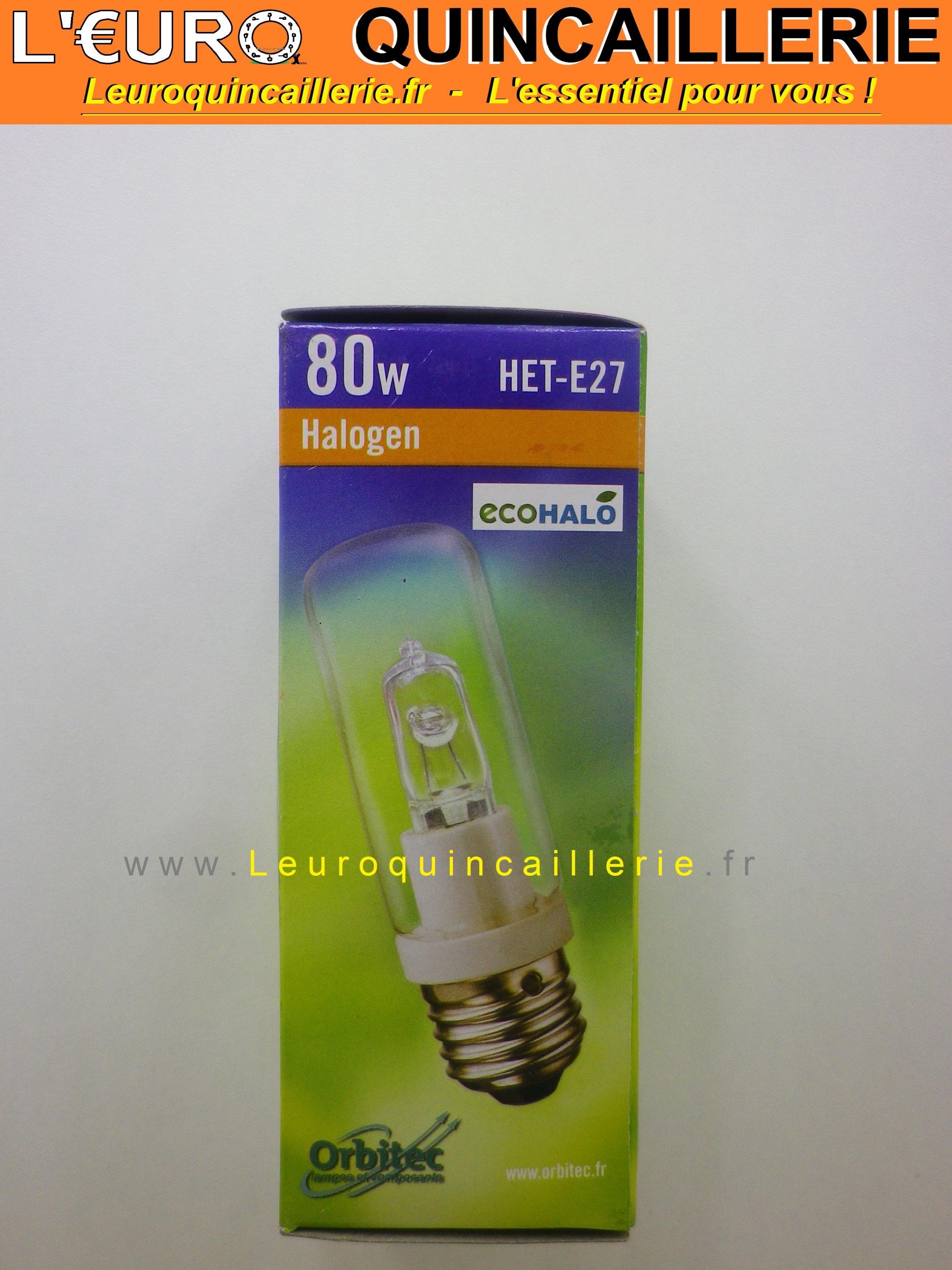 Ampoule économie halogène E27 80w=100w