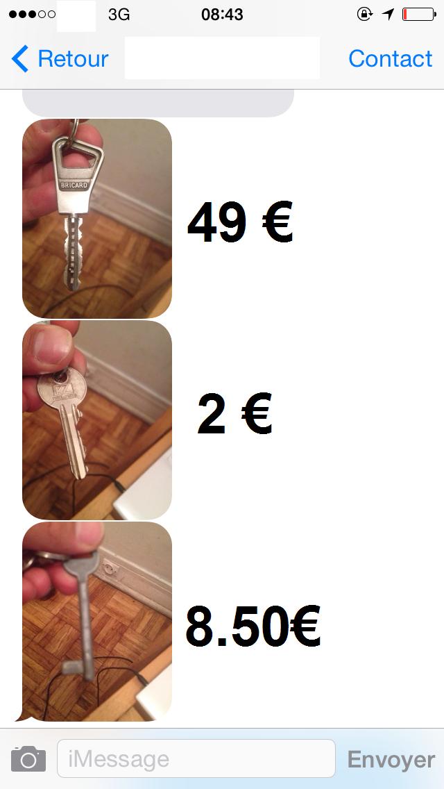 conna tre le prix d 39 une reproduction de cl bricard bille nouveau conna tre le tarif et le. Black Bedroom Furniture Sets. Home Design Ideas