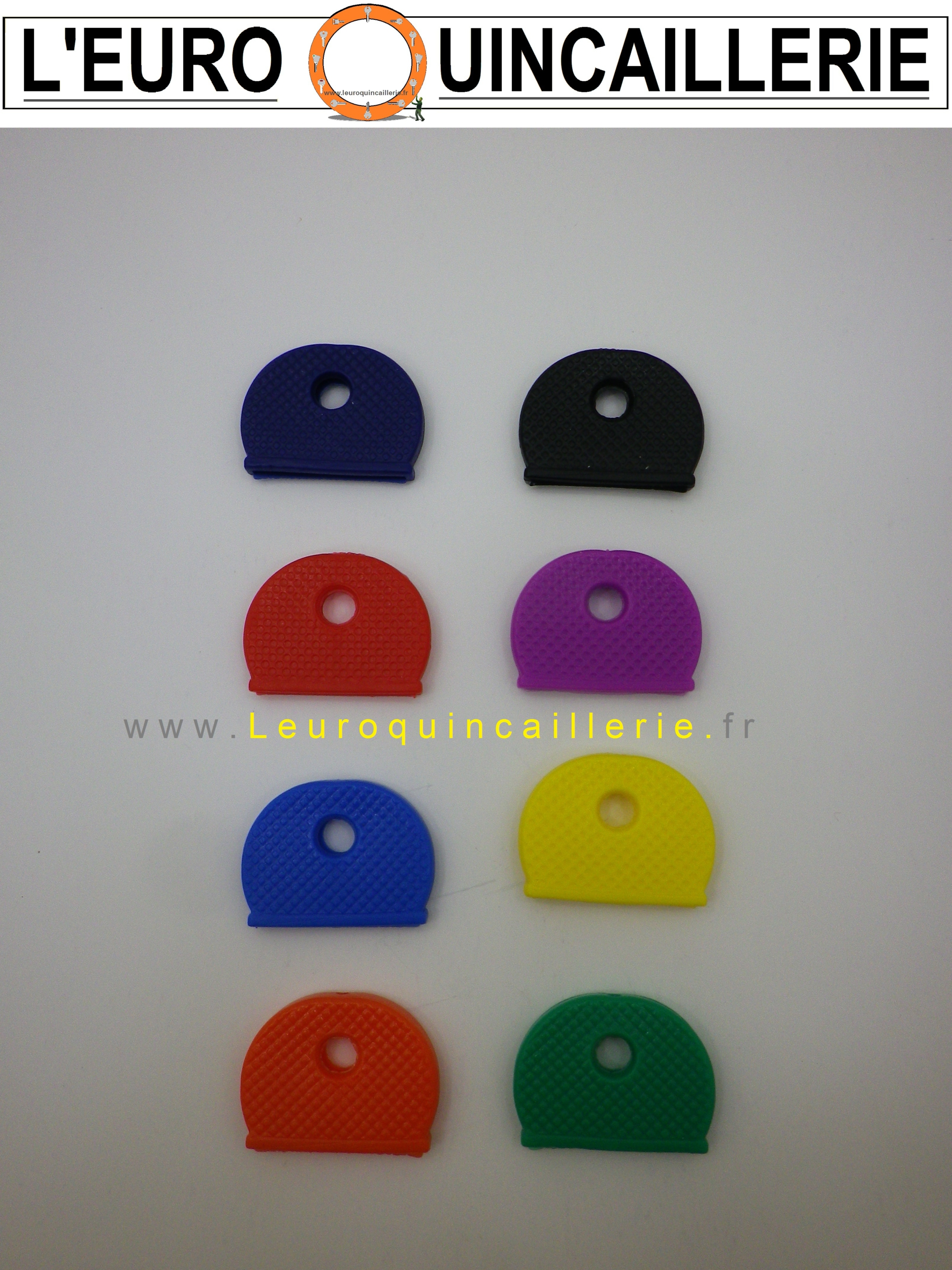Tête couleur plastique rond pour clés