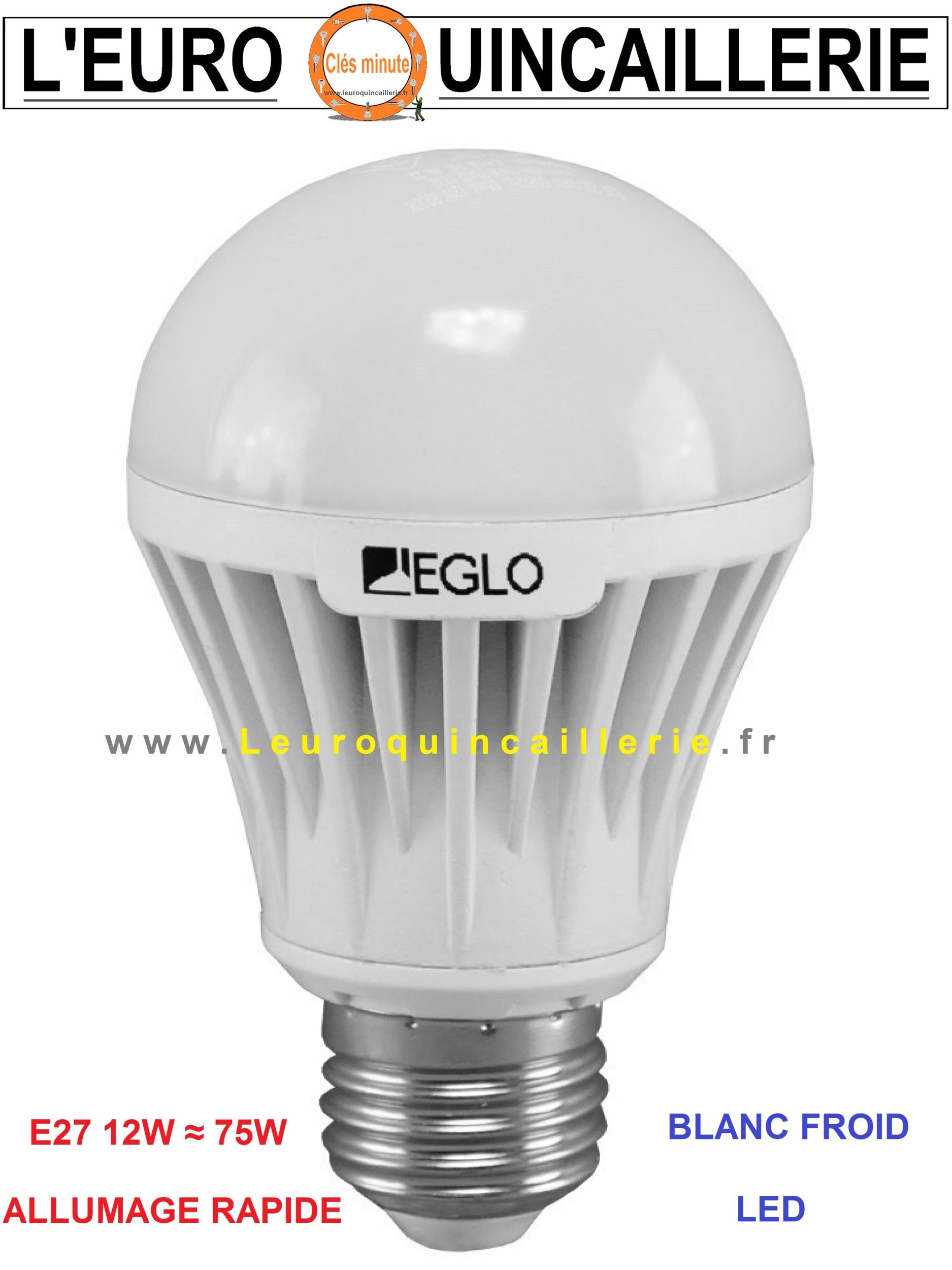 Ampoule à LED standard E27 12W ≈ 75w blanc froid