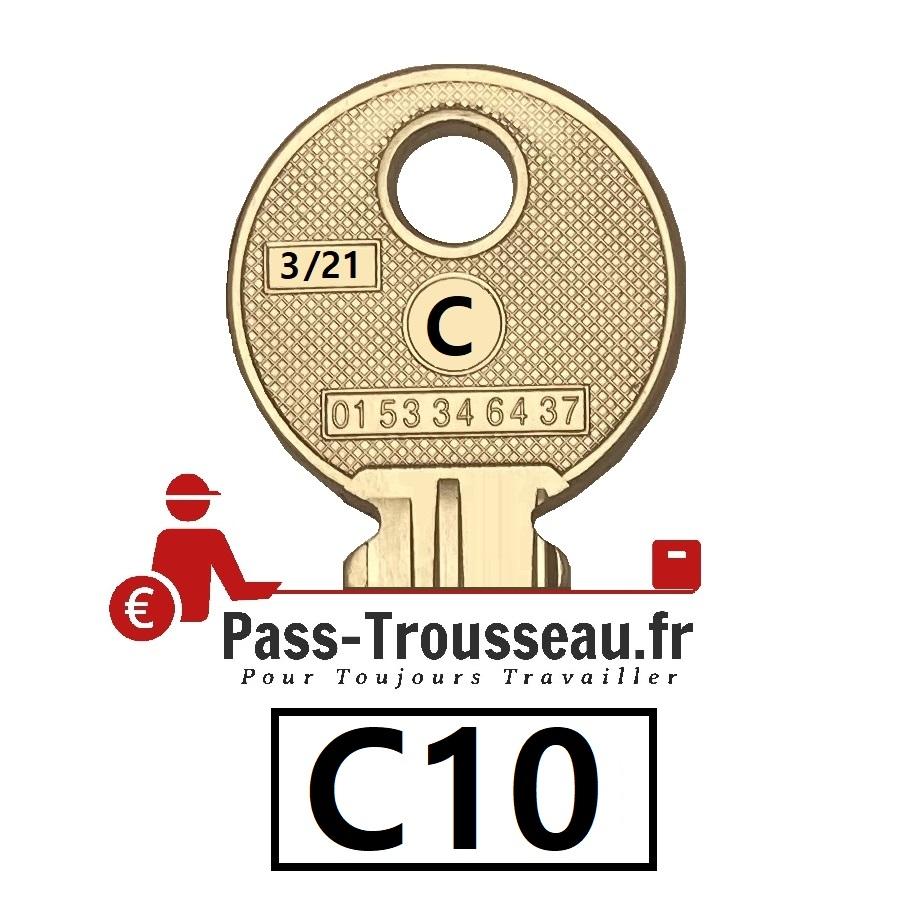 La clé C10 pass ptt 3sur21