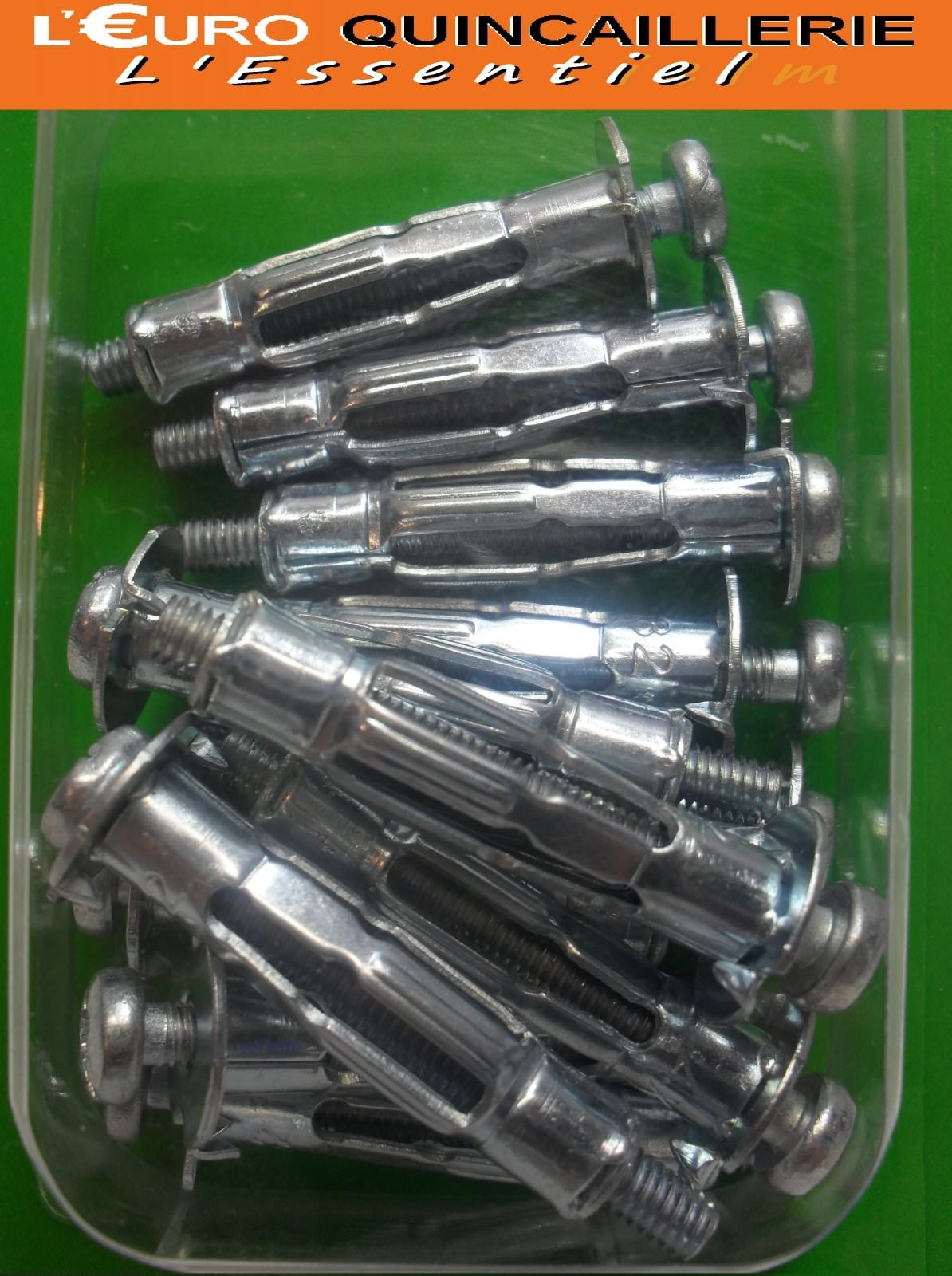12 Chevilles matériaux creux Ø 8mm VIS 4x40mm