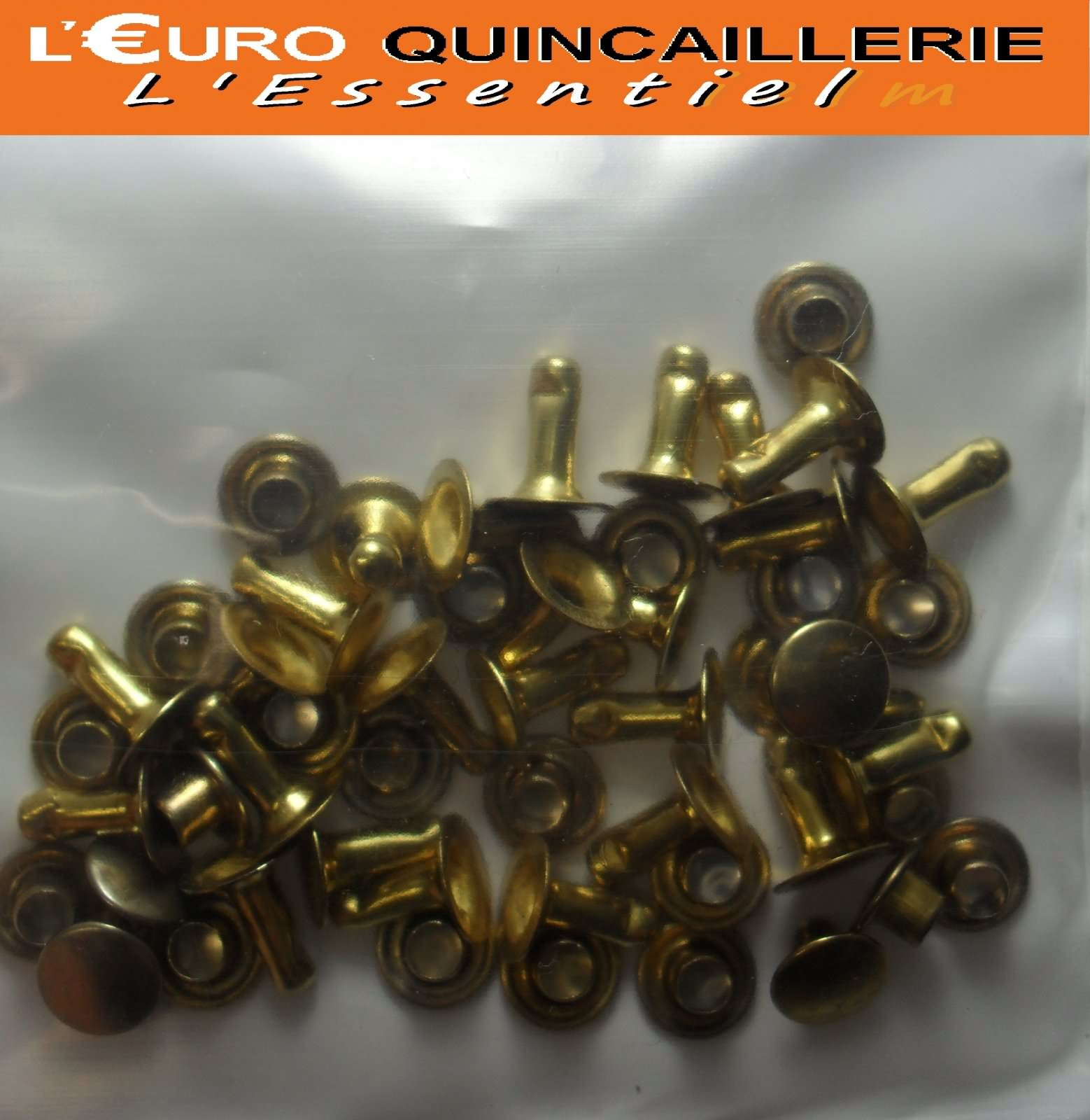 25 Rivets tubulaires D= 7mm  L= 9mm