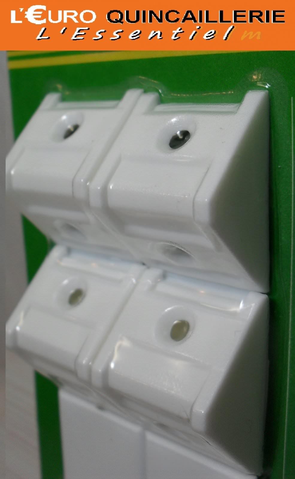 4 Équerres d\'assemblage plastique blanc