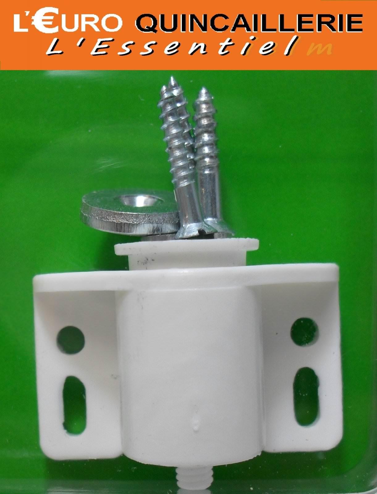 Loqueteau magnétique cylindrique blanc 4kg