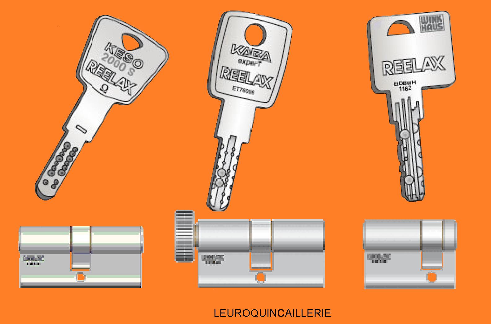 Cylindre européen à panneton Kaba Exper-T Reelax de haute sécurité fournis avec 3 clés brevetées