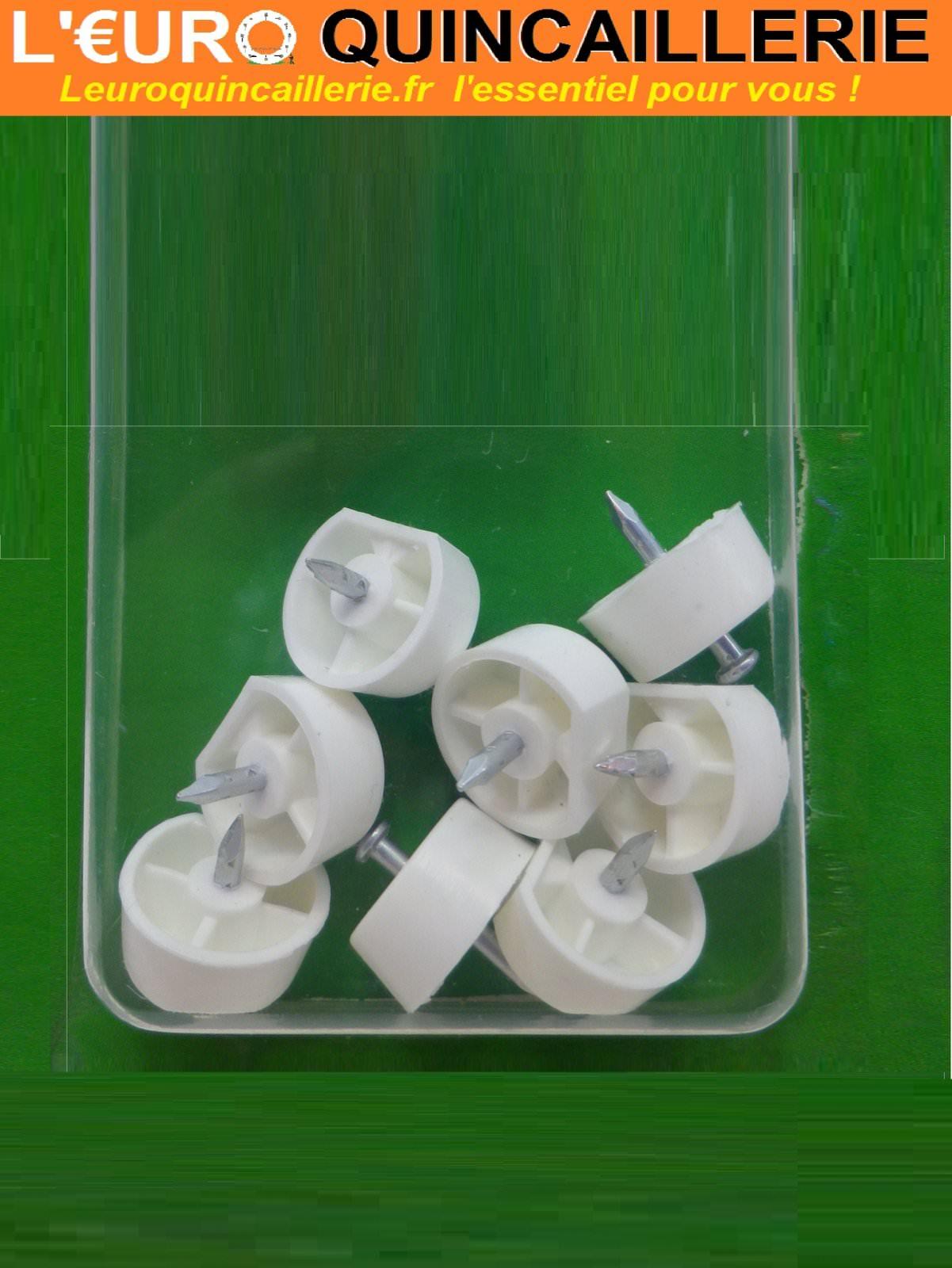 8 Taquets d'étagère à clouer plastique
