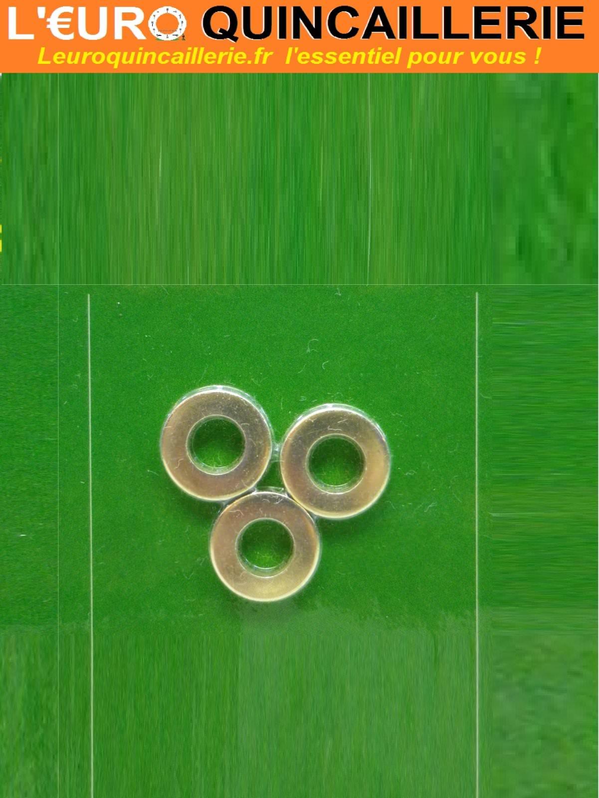 3 Bagues de paumelle laiton D.8mm