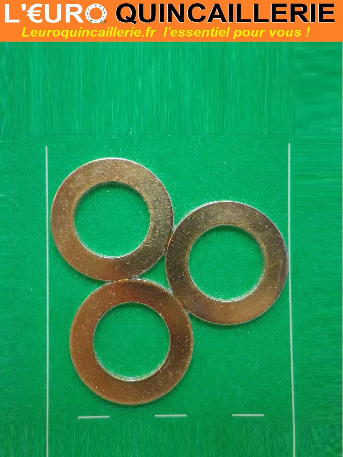 3 Bagues de paumelle laiton D. 17mm