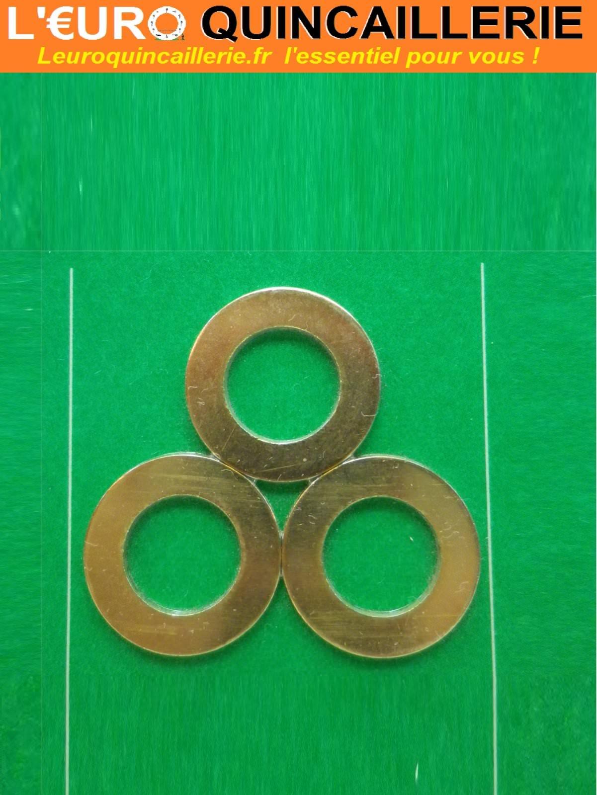 3 Bagues de paumelle laiton D. 15mm