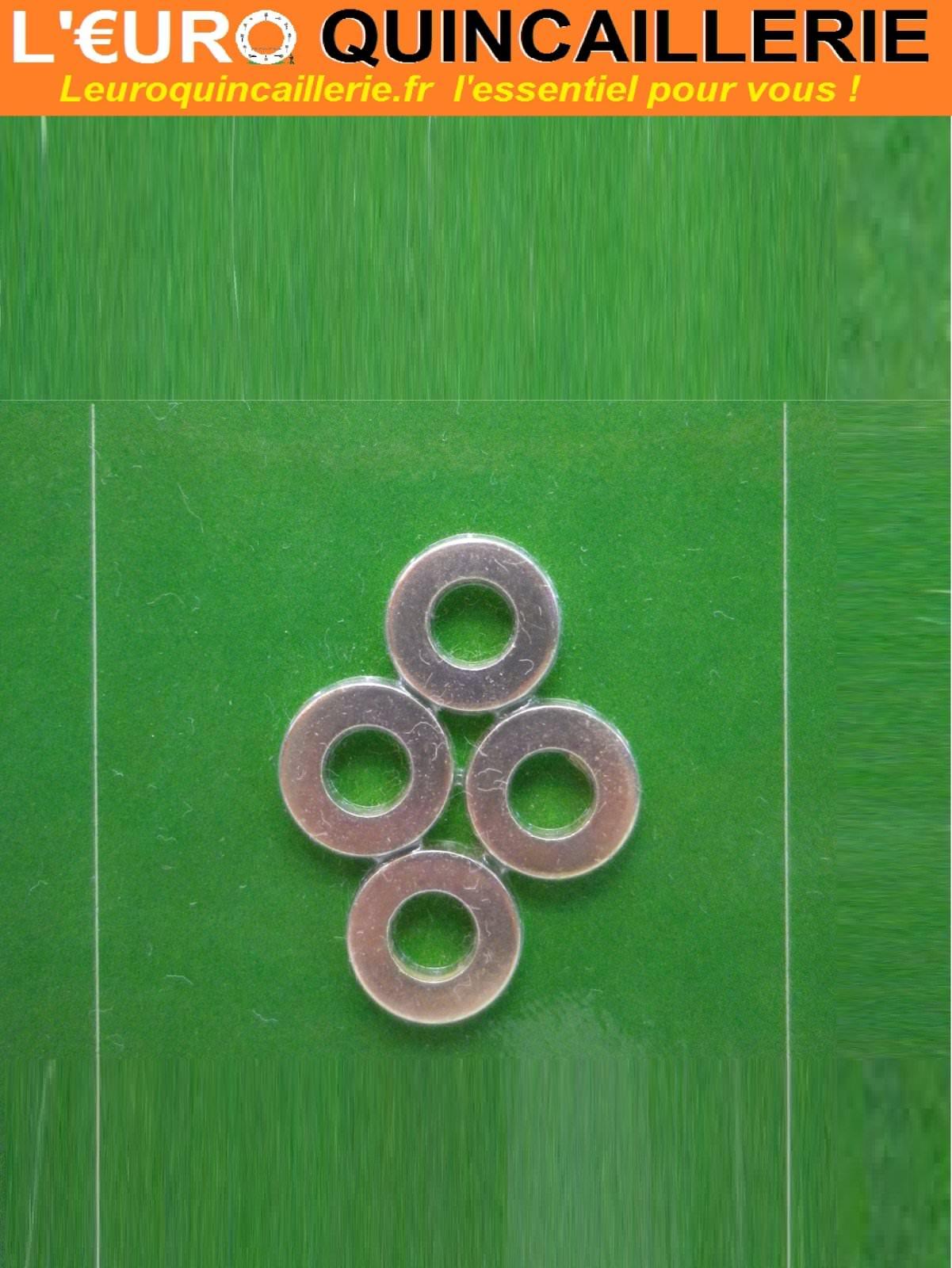 4 Bagues de paumelle laiton 7mm