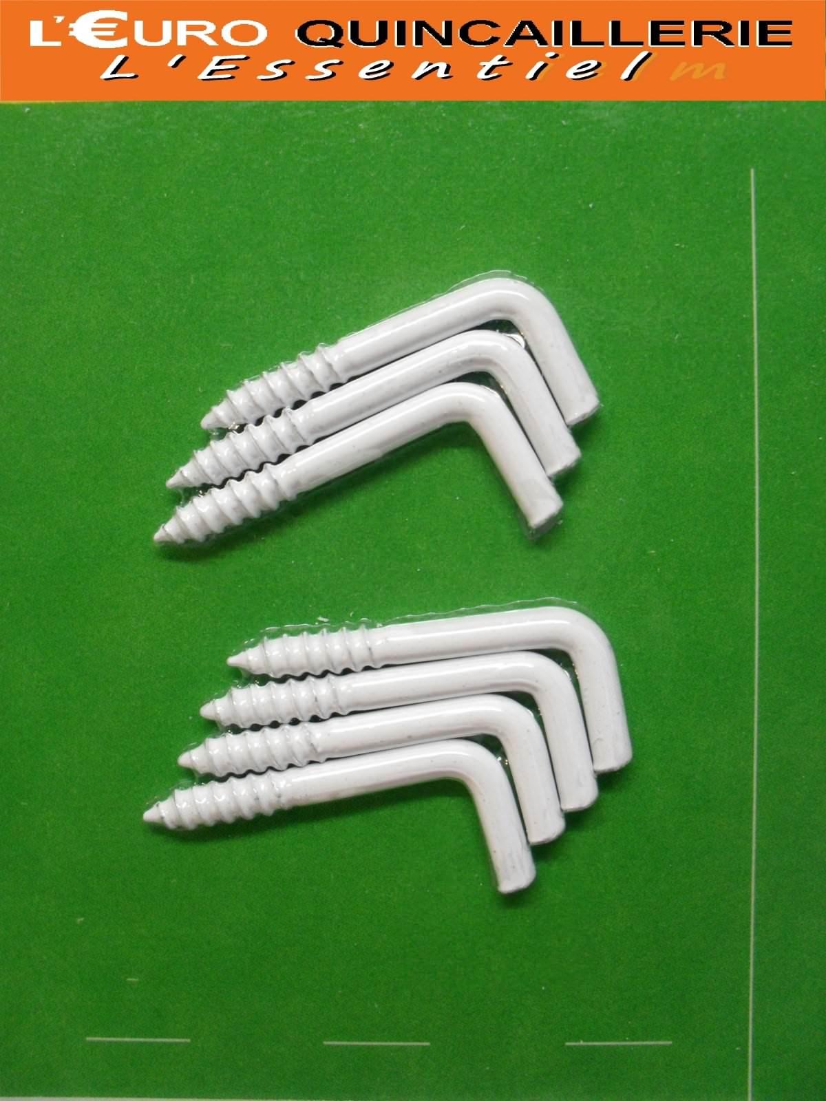 7 Gonds à vis acier plastifié blanc 2,5x25mm