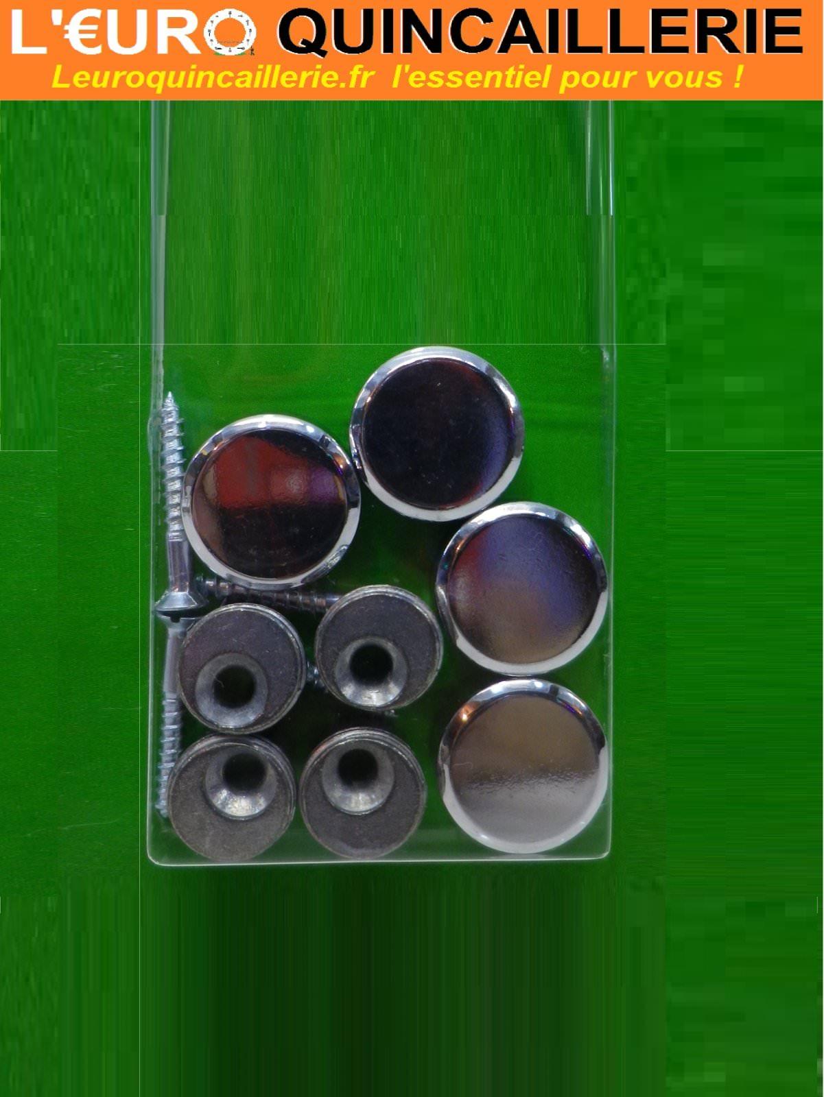 4 Pattes à glace cylindrique laiton chrome