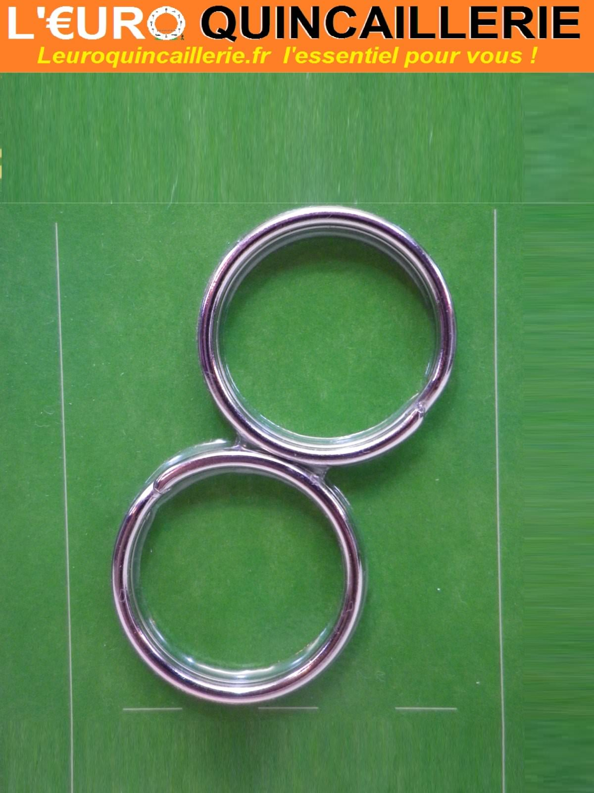 2 Anneaux de clés 27x30mm