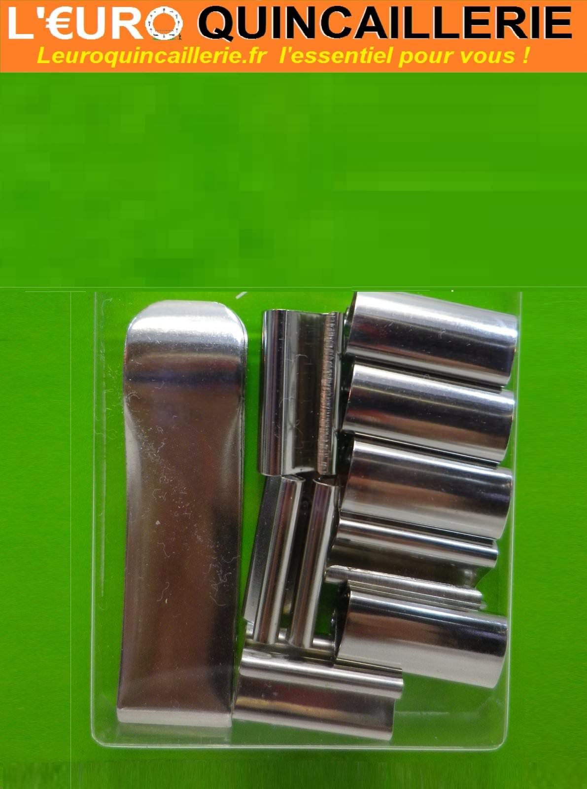 8 Pinces sous-verre 20mm