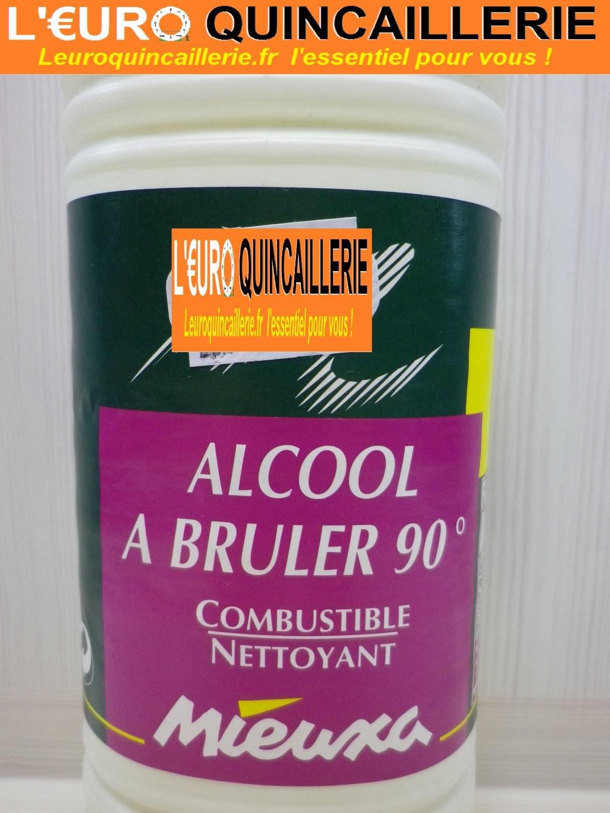 Alcool à bruler 90° 1L.