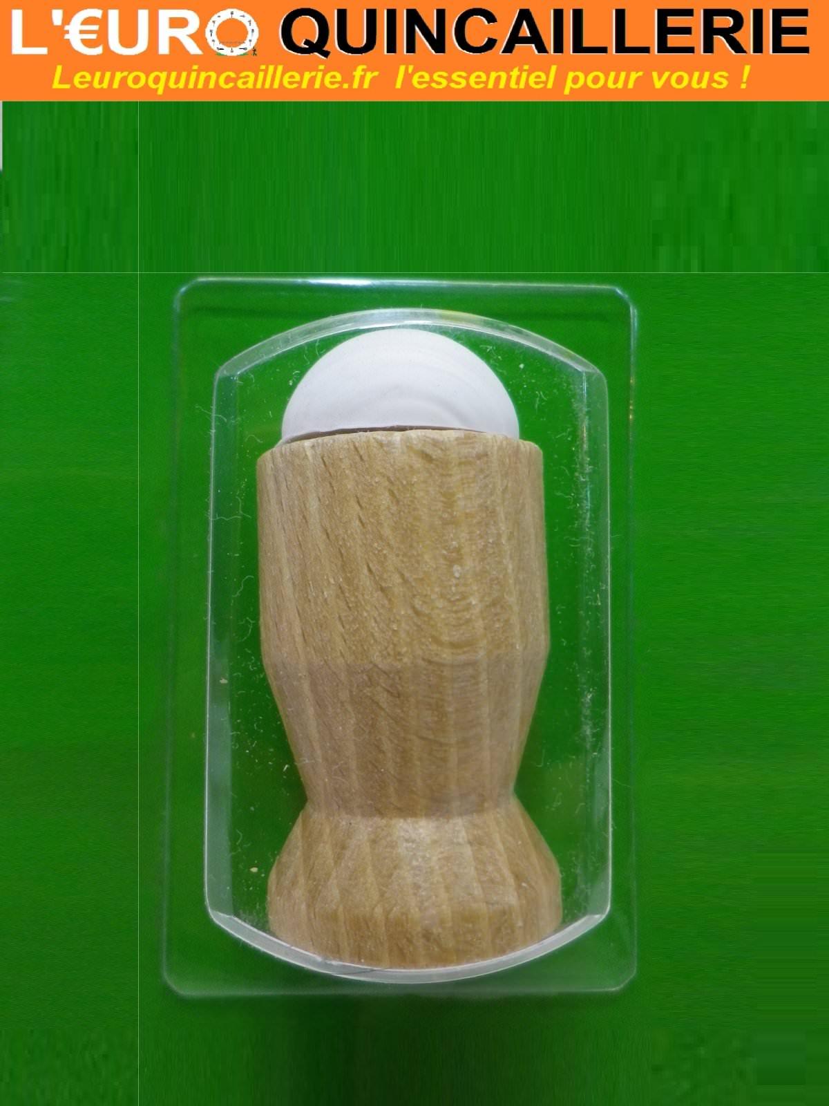 Butoir plinthe bois h tre verni 60mm quincaillerie for Butoir de porte mural
