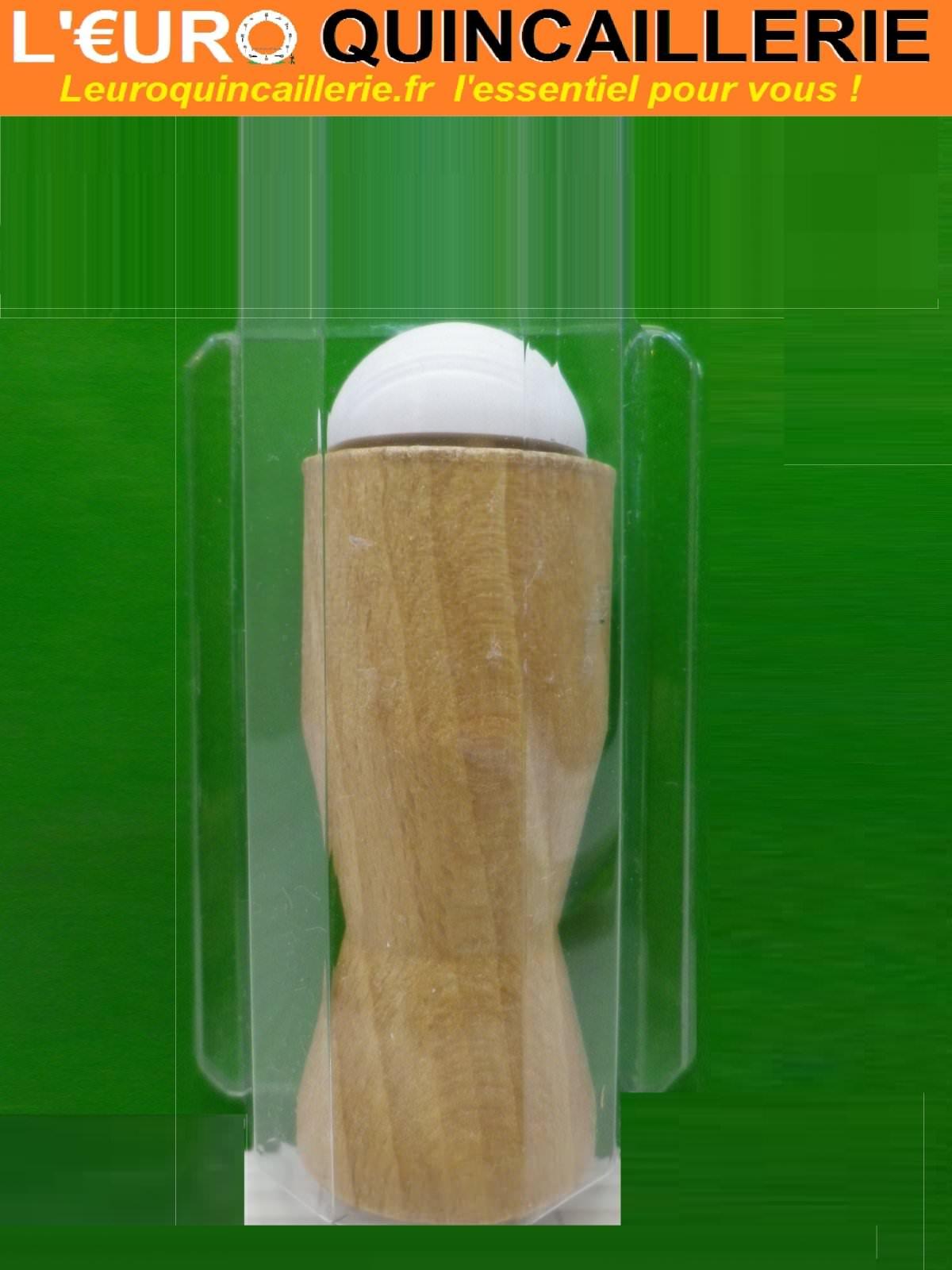 Butoir plinthe bois hêtre verni 80mm