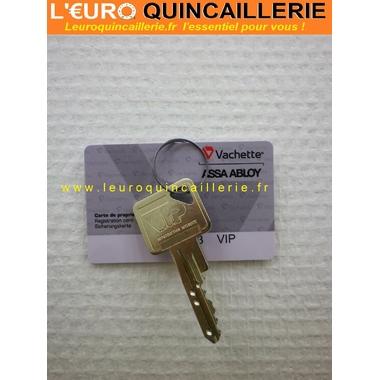 CLE VACHETTE VIP BREVETEE AVEC CARTE DE PROPRIETE