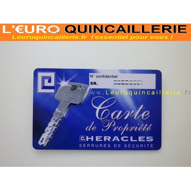 CARTE DE PROPRIETEE HERACLES