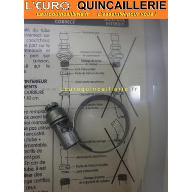 tuyau flexible gaz de ville avec collier de serrage 1. Black Bedroom Furniture Sets. Home Design Ideas