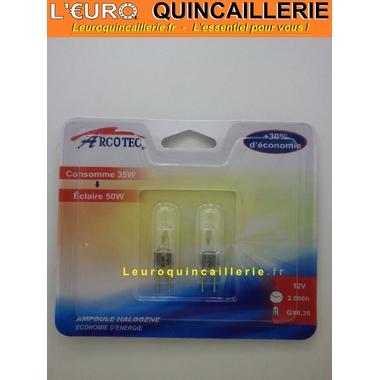 Ampoule halogène Gy6,35 35w=50w