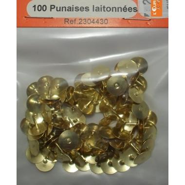 100 PUNAISES ACIER LAITONNEES
