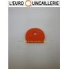 CAPUCHON ROND TETE COULEUR orange  POUR CLE