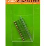 """10 Aiguilles pour crochet tableau """"LUXE"""" 25mm"""