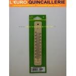 Thermomètre bois hêtre 19 cm