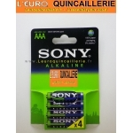 4 Piles  LR03 AAA Sony Alkaline 1,5V