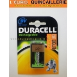 PILE 9V DURACELL rechargeable