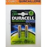2 Piles rechargeable AAA DURACEL Préchargé 800 mAh