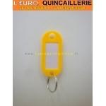PORTE ETIQUETTE orange POUR CLES AVEC ANNEAU