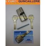 Cylindre haute sureté avec 3 clés brevetées et carte de proprièté