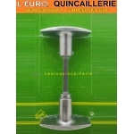 Bouton double aluminium  carré de 6 mm