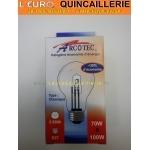Ampoule classique halogène E27 70w=100w