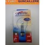 Ampoule classique halogène E27 28w=40w