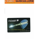 Carte de propriétée pour Clé Fichet F3D brevetée