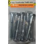 8 VIS TIREFONDS 7x60mm