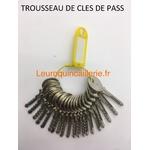 Clé Pass PTT Boîtes aux lettres x21