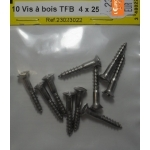 VIS A BOIS INOX TETE FRAISEE BOMBE 4x25