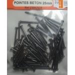 80 POINTES A BETON 25mm