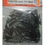 210 POINTES ACIER TETE HOMME 18mm